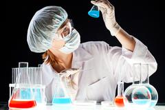 Biochemical investigation Stock Photos