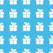 Stock Illustration of Gift box straight pattern