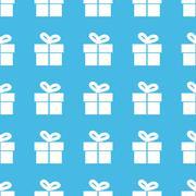 Gift box straight pattern Stock Illustration