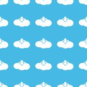 Cloud download straight pattern - stock illustration