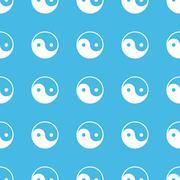 Ying yang straight pattern Stock Illustration