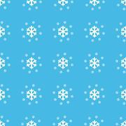 Snowflakes straight pattern - stock illustration
