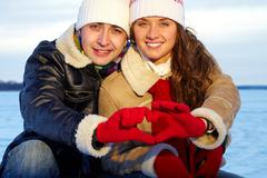 Amorous couple Stock Photos