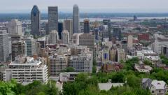 Montreal, Canada Vista with Downtown Buildings Stock Footage