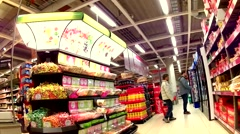 Shopping Grocery market 47sec Stock Footage