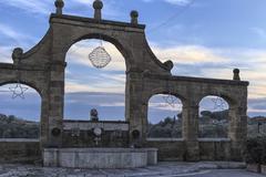 Medieval italian town: Pitigliano Stock Photos