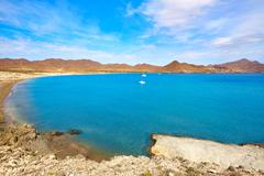 Almeria Playa los Genoveses beach Cabo de Gata - stock photo