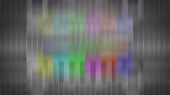 Bad TV signal on the TV screen. Stock Footage
