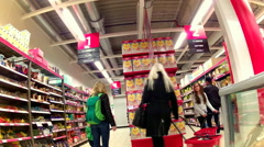 Shopping Grocery market 6 sec Stock Footage