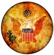 usa coat of arms - stock illustration