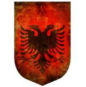 national emblem of albania - stock illustration