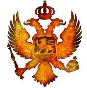 national emblem of montenegro - stock illustration