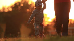 We walk on the grass - stock footage