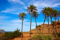 Almeria Cabo de Gata Playazo Rodalquilar beach - stock photo