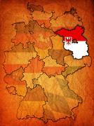 Brandenburg and other german provinces(states) - stock illustration