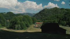 Rural landscape in the Carpathian mountains 2 - stock footage