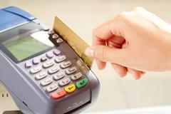 Card payment - stock photo