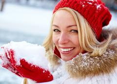 Snowy season - stock photo