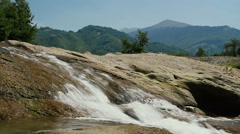 Waterfall and Mountain Stock Footage