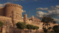 Ancient citadel of Cairo. Egypt. Time lapse. Stock Footage
