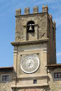 the tower of the town Hall in Cortona, Italy - stock photo