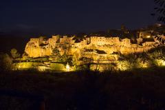 Pitigliano by night - stock photo