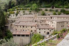 "The monastery ""the cells of St. Francis"" in Cortona, Italy - stock photo"