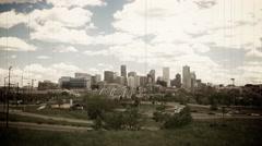 Denver Old Film Look Stock Footage