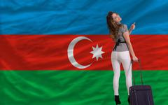 Stock Illustration of tourist travel to azerbaijan