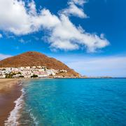 Almeria Cabo Gata San Jose beach village Spain - stock photo