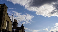 Cloud Time-Lapse with english House Stock Footage