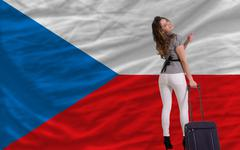 Tourist travel to czech Stock Illustration