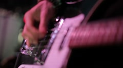 Rock band performing on stage   Stock Footage