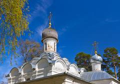 Old church in Museum-Estate Arkhangelskoye - Moscow Russia - stock photo