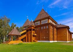 Wooden palace of Tsar Alexey Mikhailovich in Kolomenskoe - Moscow Russia Stock Photos