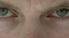 Sinister Looking Eyes Close Up Stock Footage