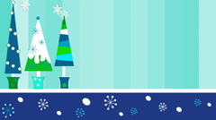 Blue Christmas Trees 1080  background - stock footage