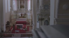 Catholic church altar Stock Footage