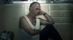 Adult suicide depression drug alcohol addiction mental health disorder - stock footage