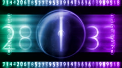 Digital number art 26 Stock Footage