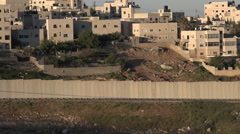 The Israeli West Bank barrier in East Jerusalem Stock Footage