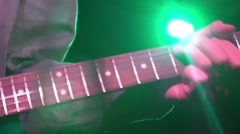 Vocalist performing live on stage in night club Stock Footage