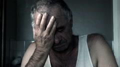 Adult suicide depression drug alcohol addiction mental health disorder Stock Footage