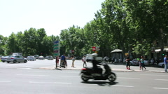 MADRID, SPAIN - 15 MAY. The Puerta de Alcala (Alcala Gate) in Madrid, Spain Stock Footage