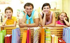 Many purchases Stock Photos