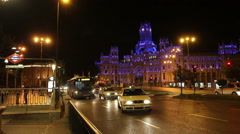 Plaza de la Cibeles - Central Post Office, Madrid, Spain. Stock Footage
