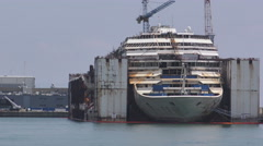 Costa concordia wreck Stock Footage