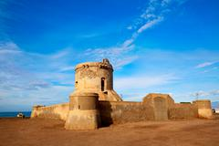 Almeria Cabo de Gata tower Torreon in San Miguel - stock photo