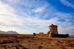 Almeria Cabo de Gata tower Torreon in San Miguel Stock Photos