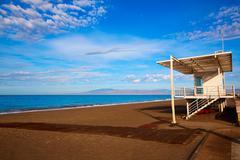 Almeria Cabo de Gata San Miguel beach lifeguard - stock photo
